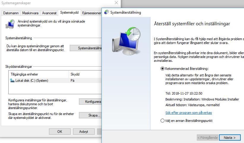 återställ Windows 10 Ingos Data